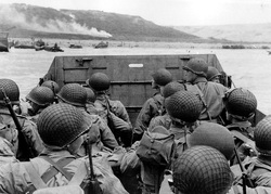 US Troops preparing to land on D-Day (US National Archives)
