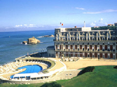 The world famous Hotel Du Palais, Biarritz